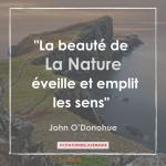 Citation n°11 - La beauté de la nature éveille et emplit les sens