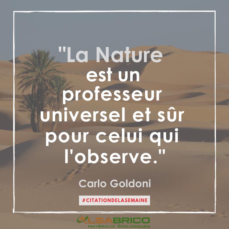 Citation n°9 - La nature est un professeur universel et sûr pour celui qui l'observe