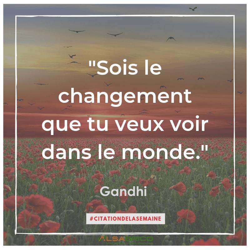 """""""Sois le changement que tu veux voir dans le monde"""" Gandhi"""