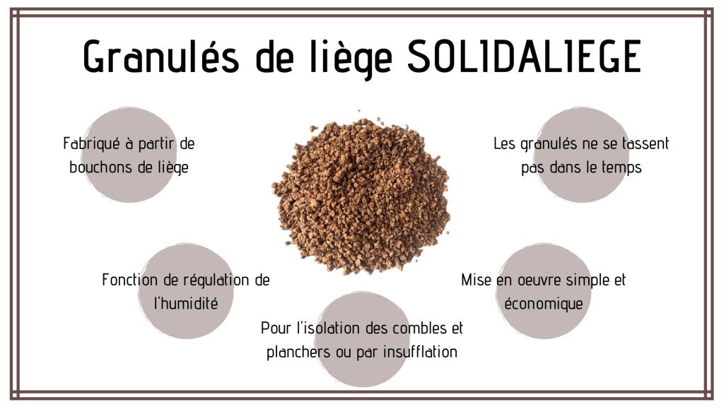Présentation du granulat de liège SOLIDALIEGE.