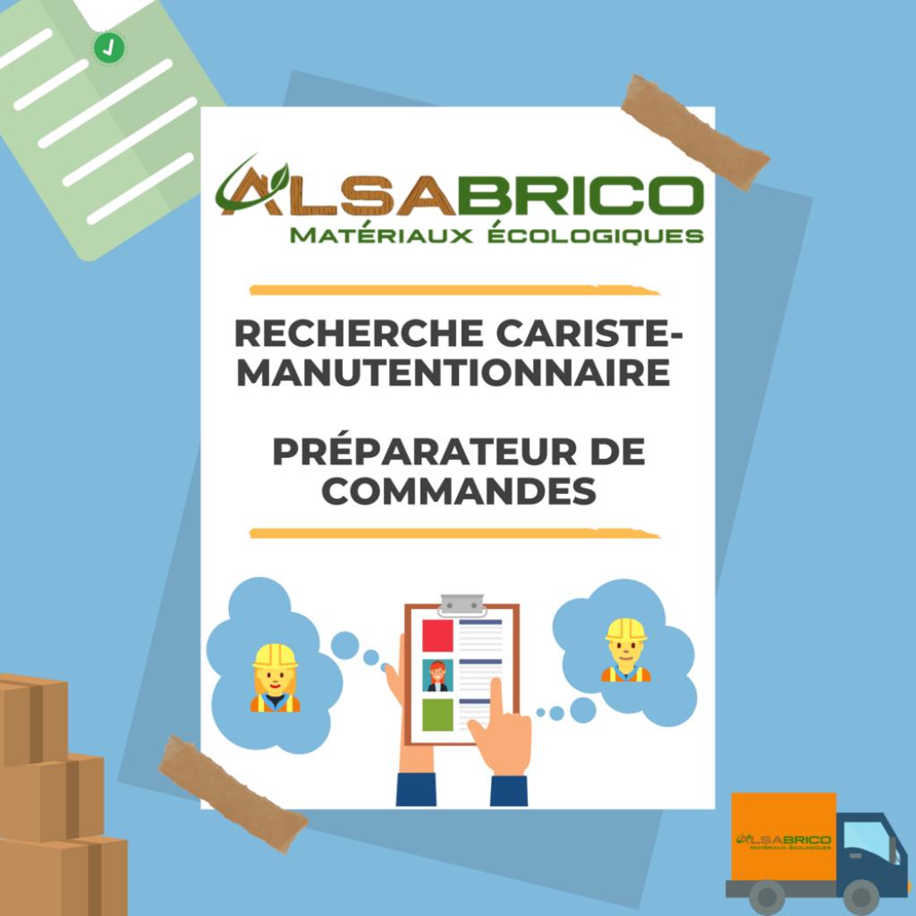emploi de manutentionnaire-cariste préparateur de commandes pour Alsabrico