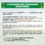 Livraison commande COVID-19 (Coronavirus) - ALSABRICO