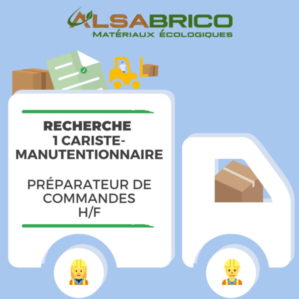 emploi cariste manutentionnaire - Alsabrico
