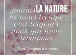 """"""" Jamais la nature ne nous trompe; c'est toujours nous qui nous trompons."""" – Jean-Jacques Rousseau #8"""
