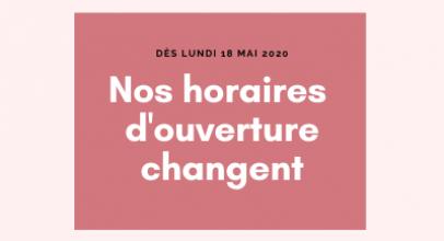 Réouverture de l'accueil au public en magasin (18/05/2020)