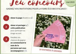 Règlement du jeu concours – Entrées Foire Éco-Bio