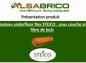 Steico Underfloor Flex : Rouleau isolant phonique parquets et sols flottant